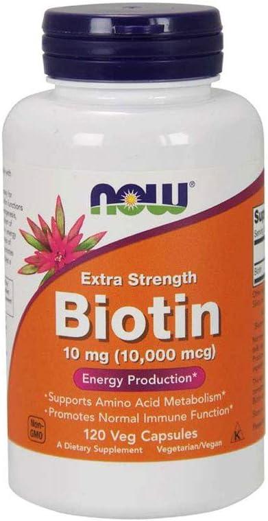 Biotina 10000mcg (120 Vcaps) Now Foods