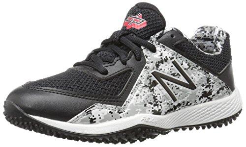 - New Balance Boys' TY4040V4 Turf Baseball Shoe, Black/Whit, 3 Medium US Little Kid