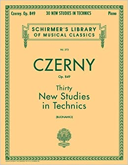 Book Thirty New Studies in Technics, Op. 849: Piano Technique (Schirmer's Library of Musical Classics)