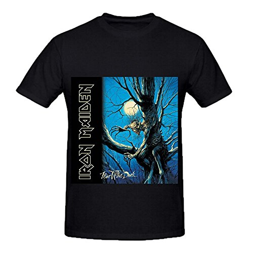 Iron Maiden Fear Of The Dark Tracks Men O Neck Custom Shirts Black