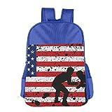 Grunge American Flag Wrestling Adjustable Boys Girls Teens Schoolbag Backpacks Bag