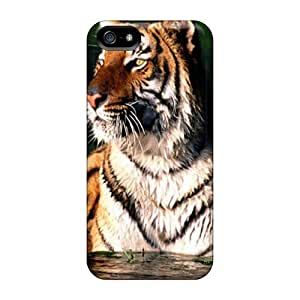 Durable Protector Case Cover With Tiger In Water Hot Design For Iphone 5/5s