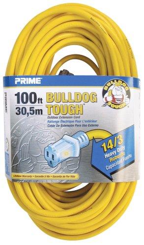 Prime Wire & Cable LT511735 100-Foot 14/3 SJTOW Bulldog Tough ...