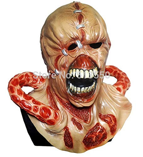 Easy Comfortable Nemesis Resident Evil 3 Latex MASK Zombie Movie Game Cosplay Wrestling MASK
