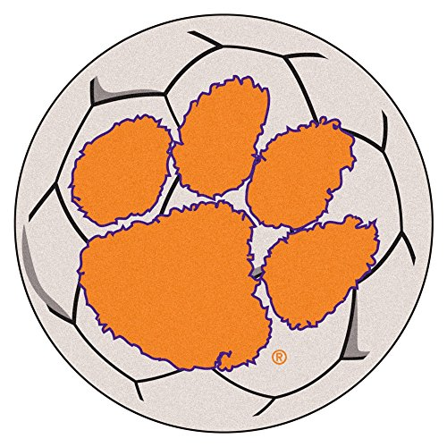 - Fanmats Clemson Tigers Soccer Ball-Shaped Mats