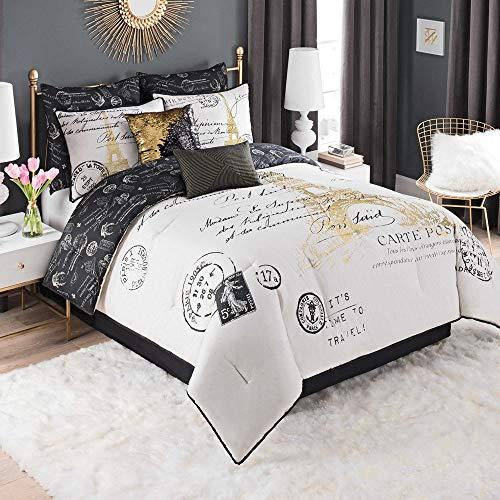 Casa Paris Gold 8 Piece Comforter Set, Full