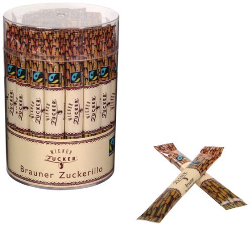 Wiener Zucker Brauner Zuckerillo FAIRTRADE Sticks