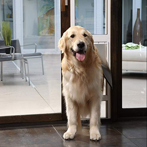 PetSafe Freedom Aluminum Patio Panel Sliding Glass Dog and Cat Door, Adjustable 91 7/16'' to 96-Inch, White, Large-Tall by PetSafe (Image #7)
