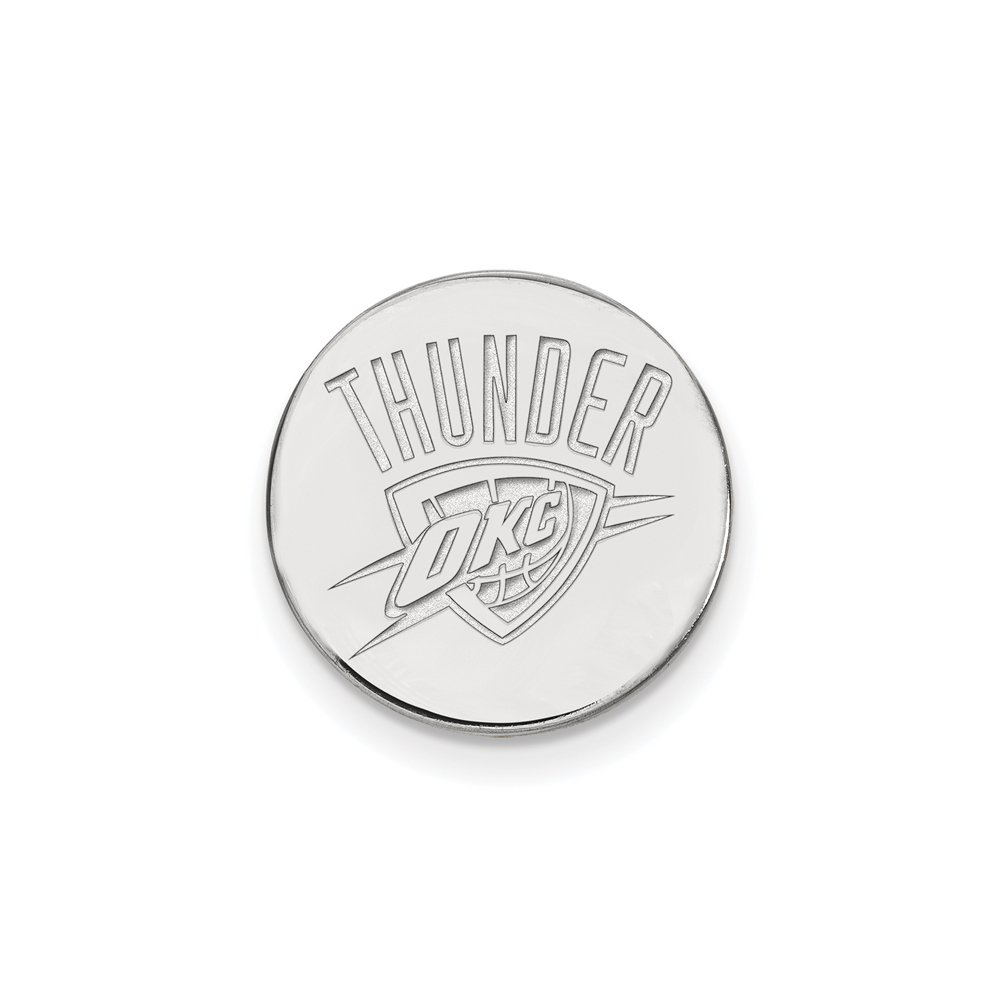 NBA Oklahoma City Thunder Lapel Pin in 14K White Gold