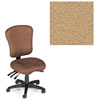 Office Master PA Collection PA55 Ergonomic Superior Task Chair - No Armrests - Grade 1 Fabric - Spice Sesame Beige 1166 PLUS Free Ergonomics eBook