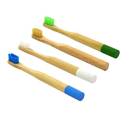 YeahiBaby Cepillo de Dientes de Bambú Natural Respetuoso del Medio ...