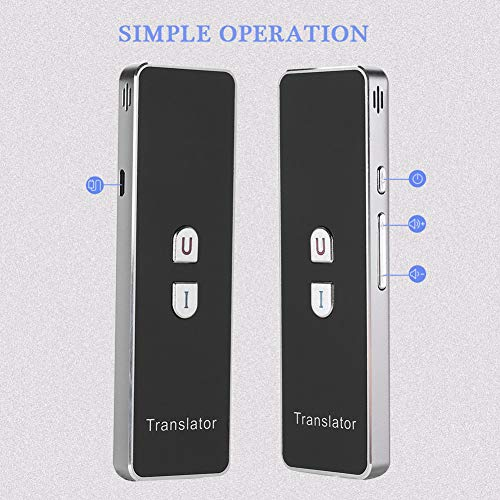 T8+ Smart Language Translator, 2.4G Bluetooth Real Time Voice Translation Device Support Chinese Arabic Portuguese French German Spanish Russian Japanese Romania 40 Languages for Travel Business by Zerone (Image #1)