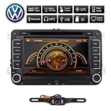 2 Din Car Stereo Autoradio Headunit DVD CD GPS Navigation Steering Wheel Control AM FM Radio For VW Volkswagen Golf Jetta Skoda Passat Backup Camera