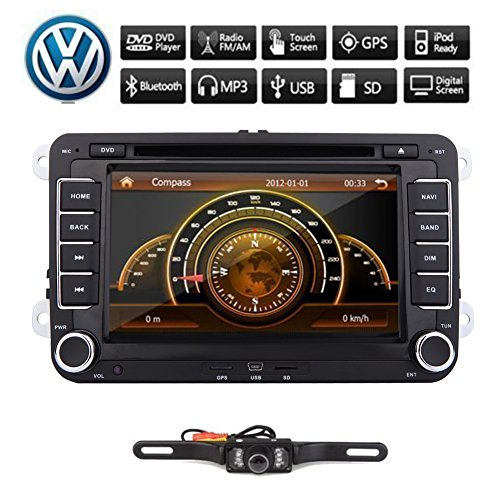 Pupug Canbus +2 Din 7 Inch Car DVD Video GPS Radio Player Stereo For VW Volkswagen Golf Jetta Skoda Passat Camera
