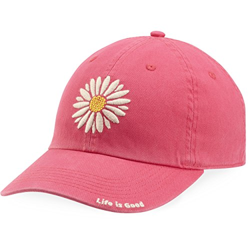 Life is good Chill Cap Daisy Pop Hat, Pop Pink, One Size