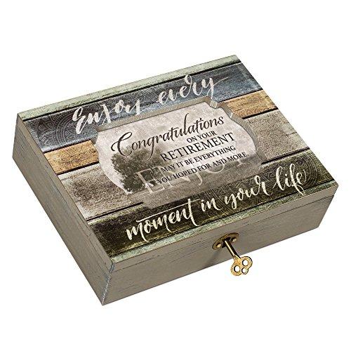 (Congratulations On Retirement Moments Decoupage Music Box Plays Wonderful World)