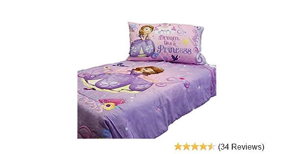 Amazoncom Sofia First Princess Scrolls 4 Piece Toddler Bedding Set