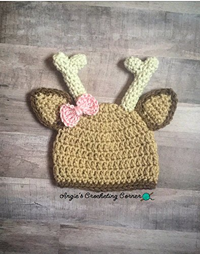 Amazoncom Crochet Newborn Deer Hat Baby Girl Deer Photo Prop