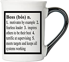 Boss Mug, Boss Coffee Cup, Ceramic Boss Mug, Custom Boss Gifts By Tumbleweed