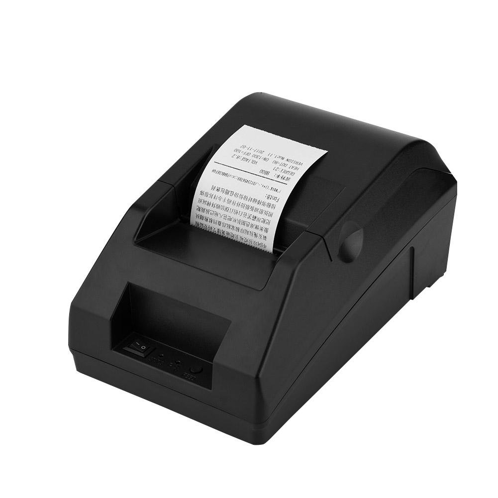 FK-Pos5821 USB Label Printer 48mm Thermal Paper for Cash Register and Esc/Pos System Receipt Printing, Suitable for Restaurants, Shopping Malls, Supermarkets (18 13 12cm)(US)