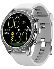 Tinwoo Smart Watch for Android/iOS Phones, Support Wireless Charging,Bluetooth Health Tracker with Heart Rate Monitor, Digital Smartwatch for Women Men, 5ATM Waterproof