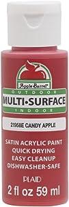 Apple Barrel Multi Surface Acrylic Paint, 2 oz, Candy Apple 2 Fl Oz