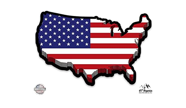 Amazon.com: GT Graphics USA Flag Map - Vinyl Sticker ... on american revolution bicentennial flag, map of the united states area codes, texas united states flag, map of the united states black, map of the world flag, map of the statue of liberty, map of the philippines flag,