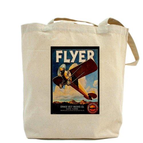 CafePress–Vintage Avión–Gamuza de bolsa de lona bolsa, bolsa de la compra