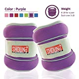 SHOUNg Reflective Ankle Weights / Wrist Weights with Adjustable Strap (1-10lbs), fit for Fitness,...