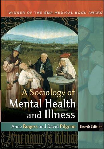 A Sociology Of Mental Health And Illness 9780335236657 Medicine