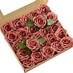 Lings-moment-Artificial-Flowers-Dusty-Cedar-Roses-25pcs-Real-Looking-Fake-Roses-wStem-for-DIY-Wedding-Bouquets-Centerpieces-Arrangements-Party-Baby-Shower-Home-Decorations