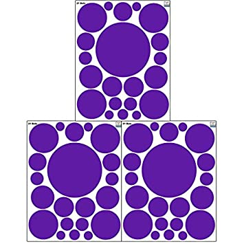 Create-A-Mural (63) Purple Wall Dot Decals ~Vinyl Polka Dot  sc 1 st  Amazon.com & Amazon.com: Create-A-Mural (63) Purple Wall Dot Decals ~Vinyl Polka ...
