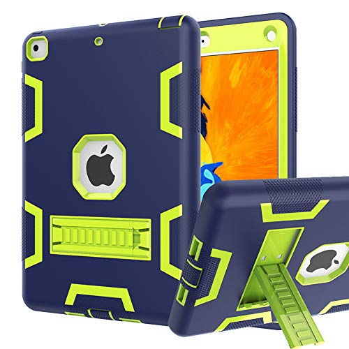 PPSHA iPad 6th/5th Generation Case, iPad 9.7 2018/2017 Case, High Impact Hybrid Drop Proof Armor Defender Protection Case Built with Kickstand for New iPad 9.7-inch (A1893/1954/A1822)(Navy)