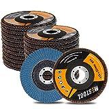 "Mestool 22 Pack Flap Disc, 4.5"" x 7/8"", Type 29"
