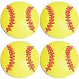 Four (4) of Yellow Softball Baseball Shoe Rubber Charms SC870