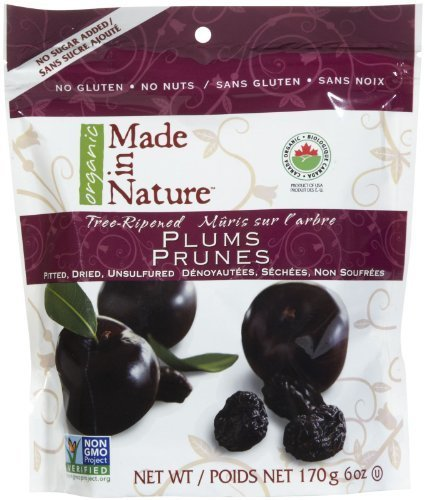 Made In Nature Organic Pitted Dried & Unsulfured Plums, 6 oz by Made In Nature
