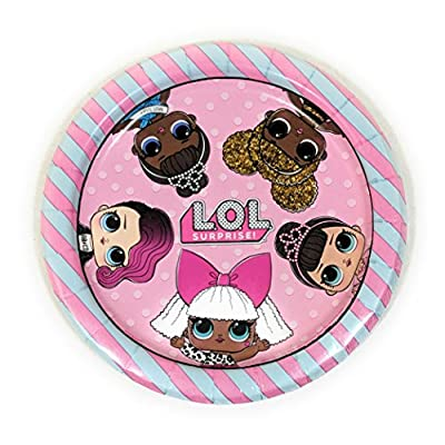 L.O.L. Surprise Doll Birthday Party Supplies Bundle Set for 16 Guests - Plates, Tablecover, Banner, Cutlery, Napkins: Toys & Games