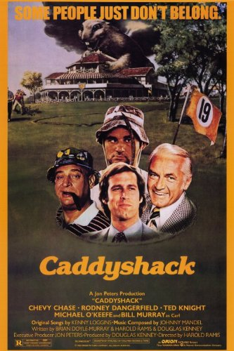 Caddyshack Poster Movie 24 x 36 Inches - 61cm x 92cm Chevy Chase Rodney Dangerfield Ted (Edward) Knight Michael O'Keefe Bill Murray Sarah Holcomb Brian ()