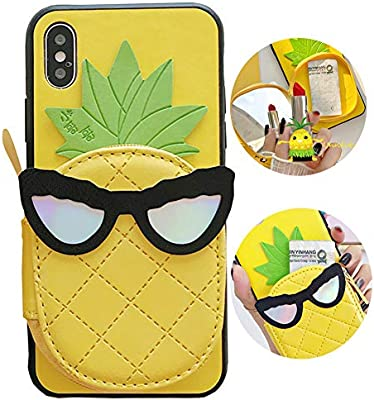 8eb8e426668a Amazon.com: SGVAHY Wallet Phone Case for iPhone 6 / 6s, Cute Fun ...
