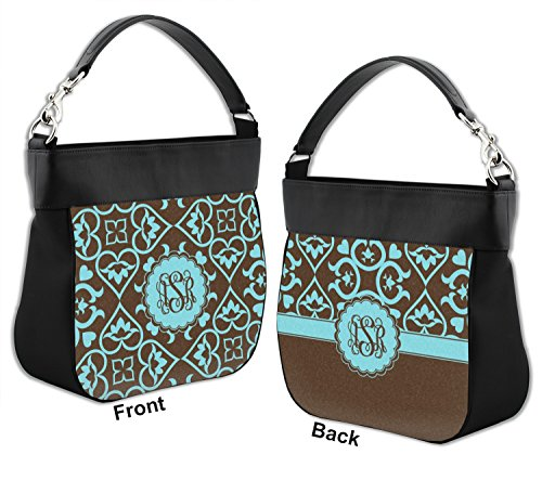 Purse Leather Hobo amp; w Back Front Trim Floral Genuine Personalized PaZFSq