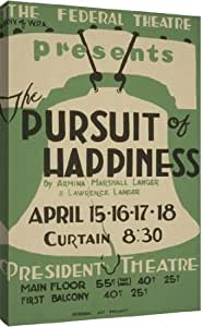 "The Federal Theatre Div. of W.P.A. presents ""The pursuit of happiness"" by Armina Marshall Langer & Lawrence Langer by Unknown vintage - 25-in x 40-in Giclée Art Print"