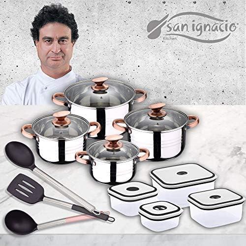 San Ignacio Premium - Bateria de 4 piezas, 4 fiambreras y 3 ...