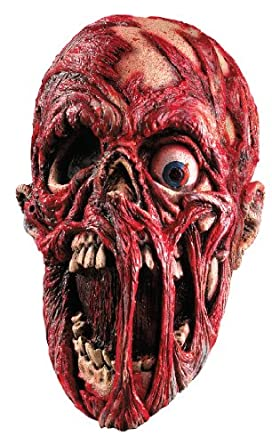 Rubie's Costume Screaming Corpse Overhead Mask Flesh/Red One Size Rubies Costumes - Apparel 67105