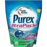 Purex Ultra Packs Laundry Detergent, Mountain Breeze, 18 Count
