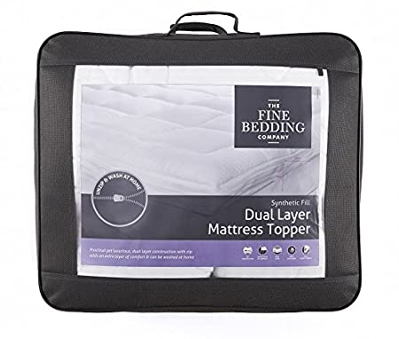 The Fine Bedding Company Dual Layer Mattress Topper - Double