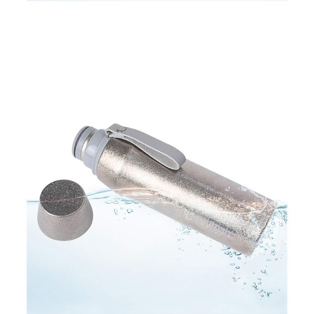 SHIZHESHOP Reines Titanium Vakuum Insulaterd Wasserflasche Doppelwandige Nicht-toixc-Reisebecher