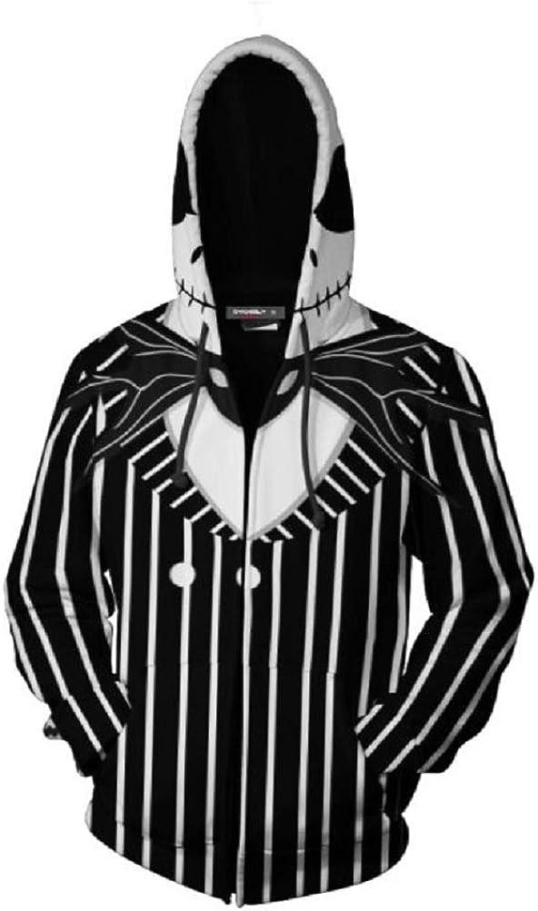 PONGONE The Nightmare Before Christmas Jack & Sally Skellington Pullover/Zipper Hoodie