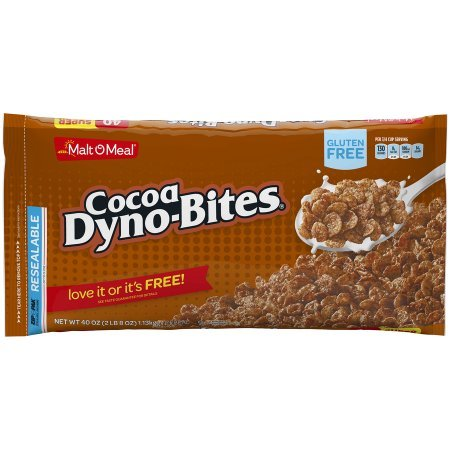 Malt-O-Meal Gluten Free Breakfast Cereal, Cocoa Dyno-Bites, 40 Oz, Bag