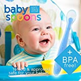 Baby Spoons BPA Free Soft Silicone Set for Feeding by Ashtonbee (5 Pack)