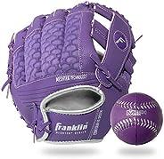 Franklin Sports Teeball Glove and Ball Set - Meshtek Teeball Glove and Foam Baseball - 9.5&